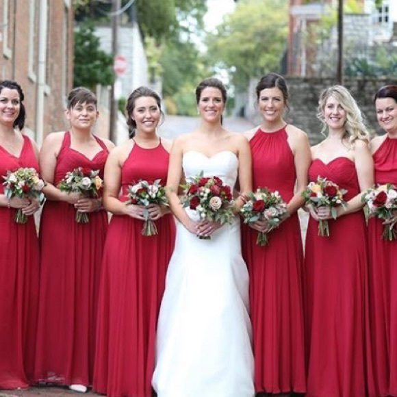 fa21819c022 Red Bridesmaid Dress By After Six